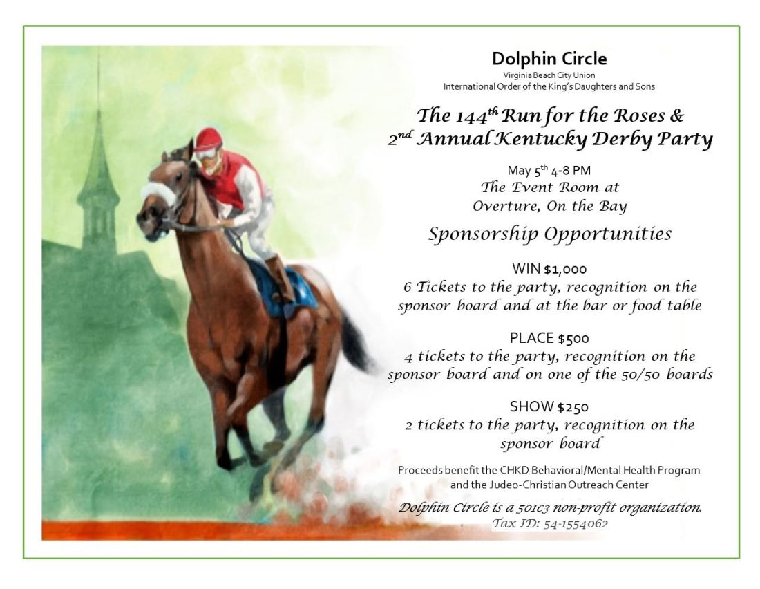 Dolphin Derby sponsor form